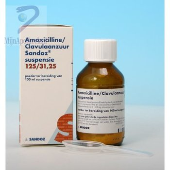 AMOXI/CLAV SANDOZ PDR V SUSP 125/31,25MG/5ML